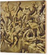 The Battle Of Cascina Wood Print