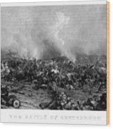 The Battle Of Gettysburg Wood Print