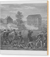 The Battle Of Lexington Wood Print