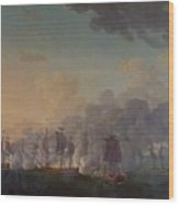 The Battle Of Louisbourg On The 21st July 1781 Wood Print