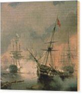 The Battle Of Navarino Wood Print