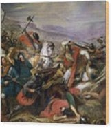 The Battle Of Poitiers Wood Print