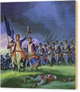 The Battle Of Saratoga, Showing A General Attack Led By Brigadier Arnold Wood Print