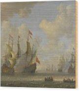 The Battle Of Scheveningen Wood Print