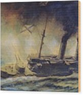 The Battle Of The Gulf Of Riga Wood Print