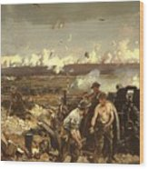 The Battle Of Vilmy Ridge Wood Print