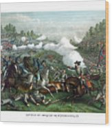 The Battle Of Winchester Wood Print