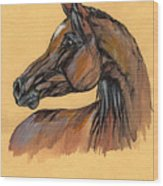 The Bay Arabian Horse 10 Wood Print