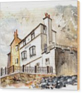 The Bay Hotel In Robin Hoods Bay Wood Print
