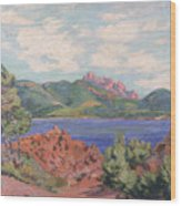 The Bay Of Agay Wood Print by Jean Baptiste Armand Guillaumin
