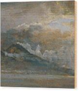 The Bay Of Naples With Vesuvius Wood Print