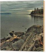 The Bay Of Thunder Wood Print