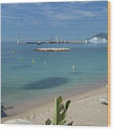 The Beach At Cannes Wood Print