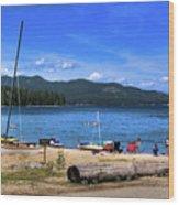 The Beach At Hill's Resort Wood Print