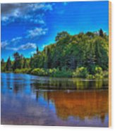 The Beach At Singing Waters Campground Wood Print