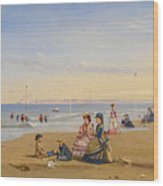 The Beach At Trouville Wood Print