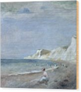 The Beach At Varangeville Wood Print by Renoir