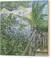 The Beach House Wood Print