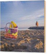 The Beach Is Calling Wood Print