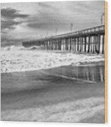 The Beach Pier Wood Print
