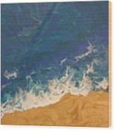 The Beach - Tac Wood Print