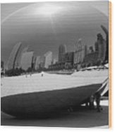 The Bean B-w Wood Print