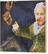 The Bearded Lady's Dream Wood Print