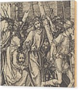 The Bearing Of The Cross With Saint Veronica Wood Print