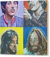 The Beatles - Montage Wood Print