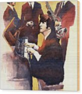 The Beatles 01 Wood Print by Yuriy  Shevchuk