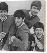 The Beatles, 1963 Wood Print