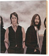The Beatles 3 Wood Print