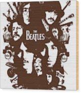 The Beatles No.15 Wood Print by Caio Caldas