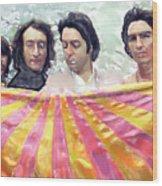 The Beatles. Watercolor Wood Print