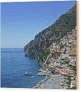 The Beautiful And Famous Amalfi Coast Wood Print