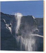 The Beautiful Bridalveil Falls Of Yosemite Wood Print