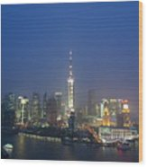 The Beautiful Bund, Shanghai, China Wood Print