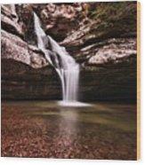 The Beautiful Cedar Falls Wood Print
