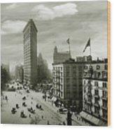 The Beautiful Flatiron Building Circa 1902 Wood Print