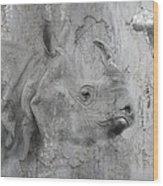 The Beautiful Rhino Wood Print