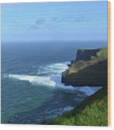 The Beauty Of Ireland's Cliff's Of Moher And Galway Bay  Wood Print
