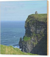 The Beauty Of Ire'land's Cliff's Of Moher In County Clare Wood Print