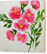 The Beauty Of Peonies Wood Print