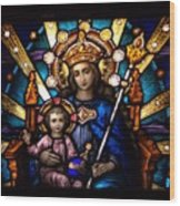 The Beauty Of Stained Glass Wood Print by Myrna Migala