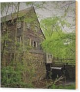 The Beauty Of The West Point On The Eno Grist Mill - Durham, N.c. Wood Print