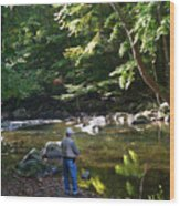 The Beauty Of Trout Fishing 2 - Original Photography Wood Print