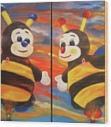 The Bees, Joey And Lilly Wood Print