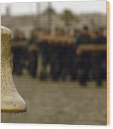 The Bell Is Present On The Beach Wood Print by Stocktrek Images
