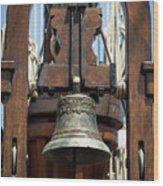 The Bell Of The Tall Ship Wood Print