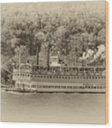 The Belle Of Louisville Wood Print